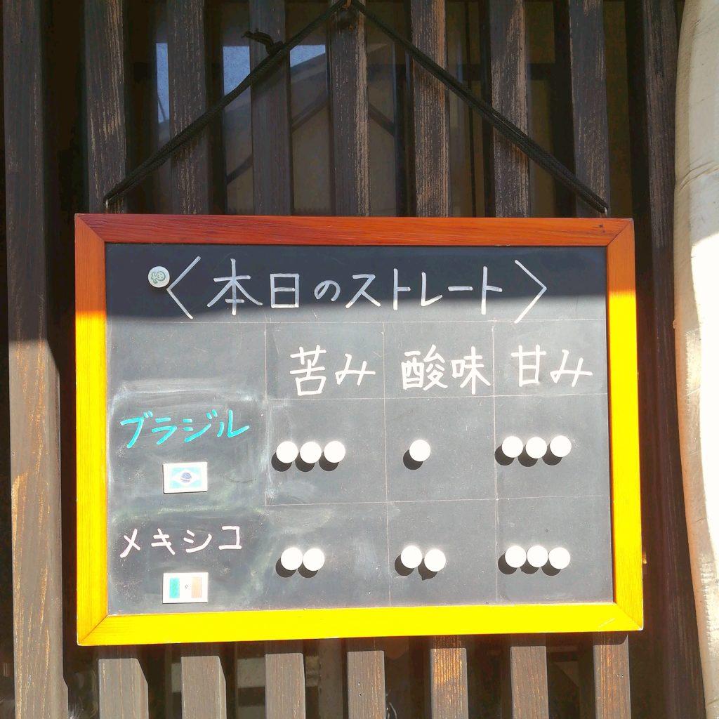 千葉コーヒー「珈琲飄々」本日のストレートコーヒー