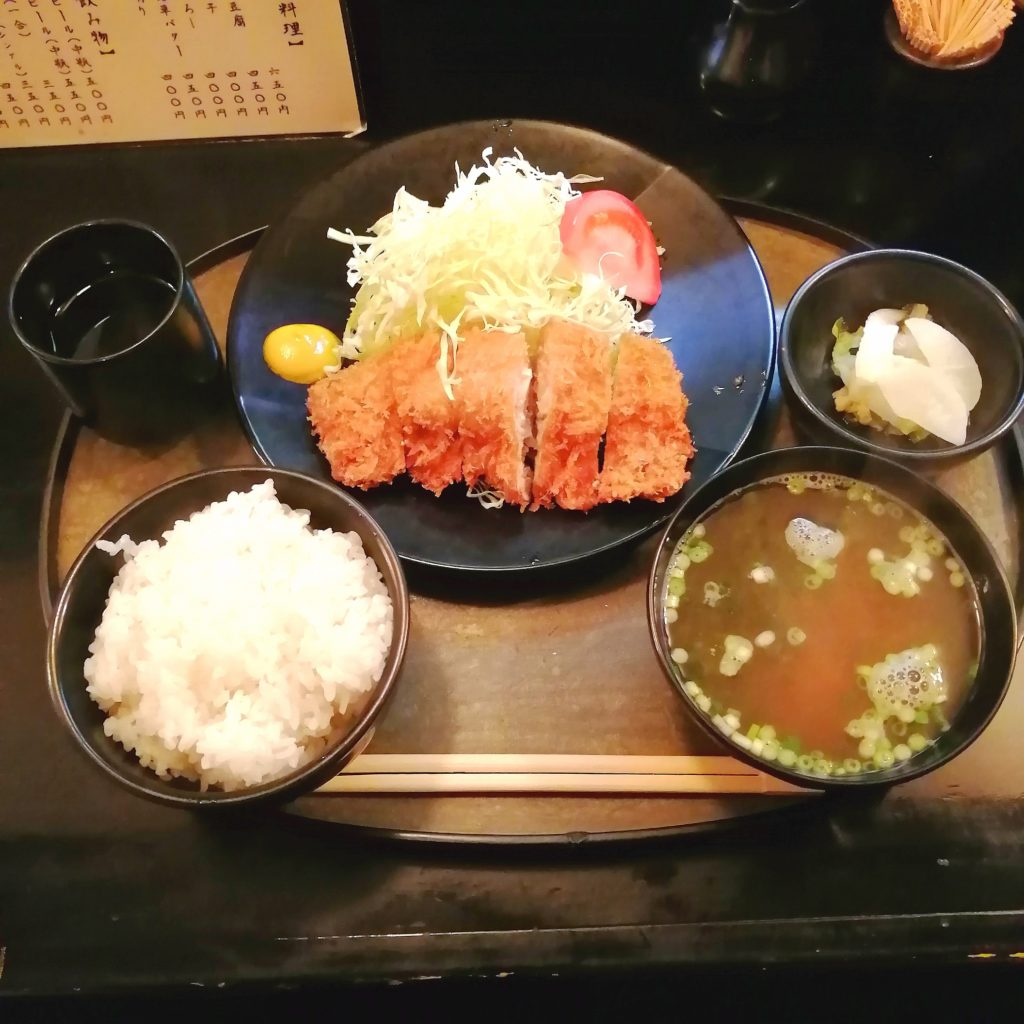 高円寺とんかつ「松永」ニンニクカツ定食