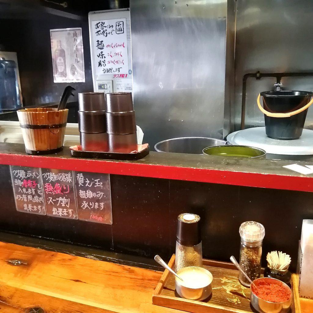 新高円寺ラーメン「麺や天鳳」カウンター