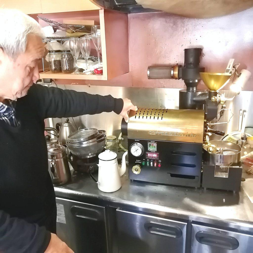 コーヒー焙煎「繁田珈琲焙煎倶楽部」ディスカバー焙煎機の説明