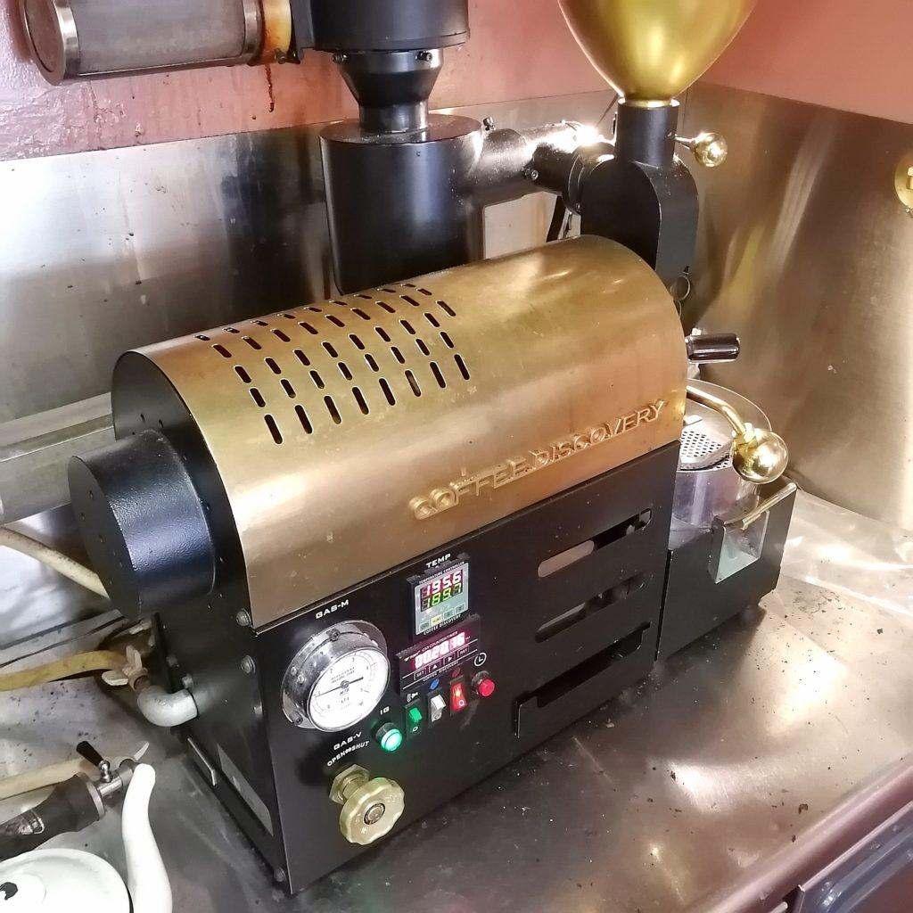 コーヒー焙煎「繁田珈琲焙煎倶楽部」ディスカバリー焙煎機で焙煎