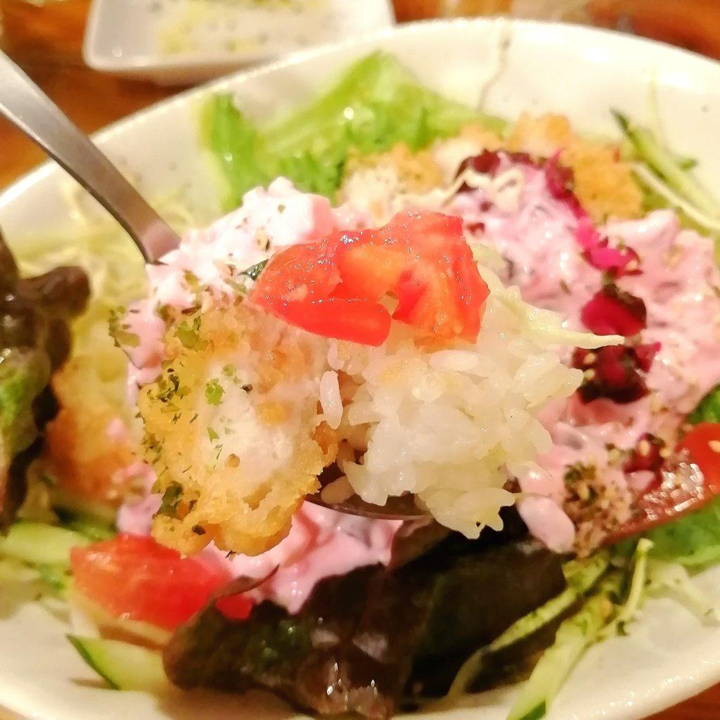 新高円寺カフェ「SMILE EARTH」柴漬けタルタルソースのチキン南蛮丼・アップ