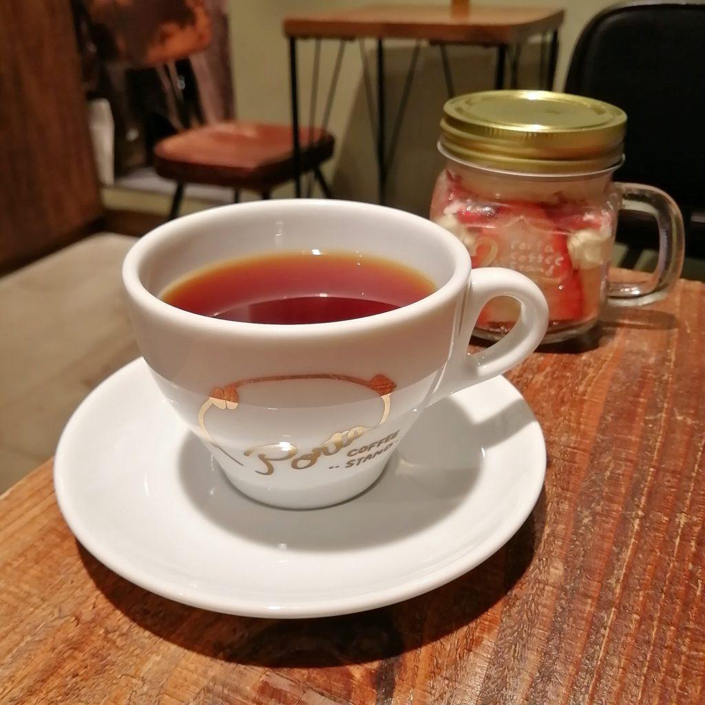 高円寺コーヒースタンド「Porta COFFEE STAND」2周年祭・コーヒーといちごのティラミス