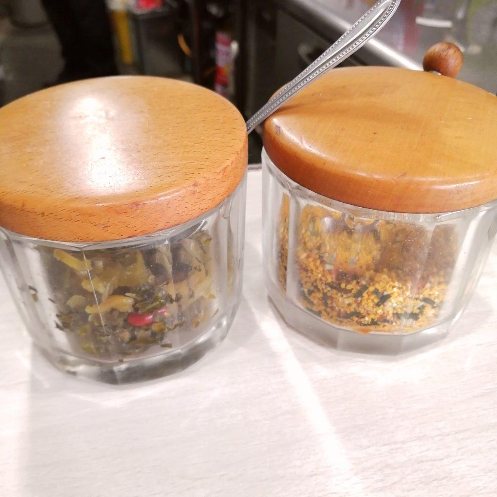 高円寺洋食「クロンボ」ふりかけと高菜