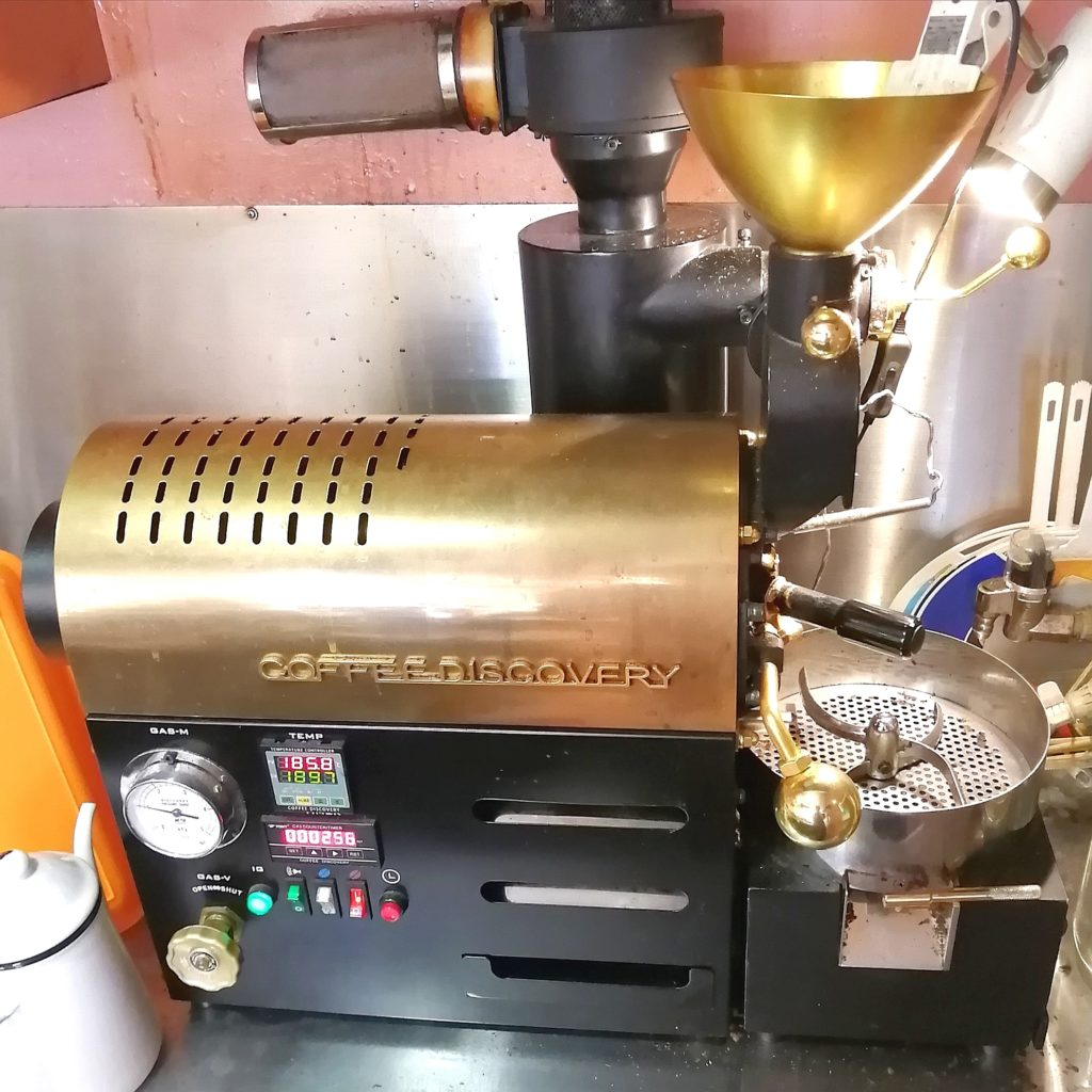 コーヒー焙煎「繁田珈琲焙煎倶楽部」焙煎機ディスカバリー