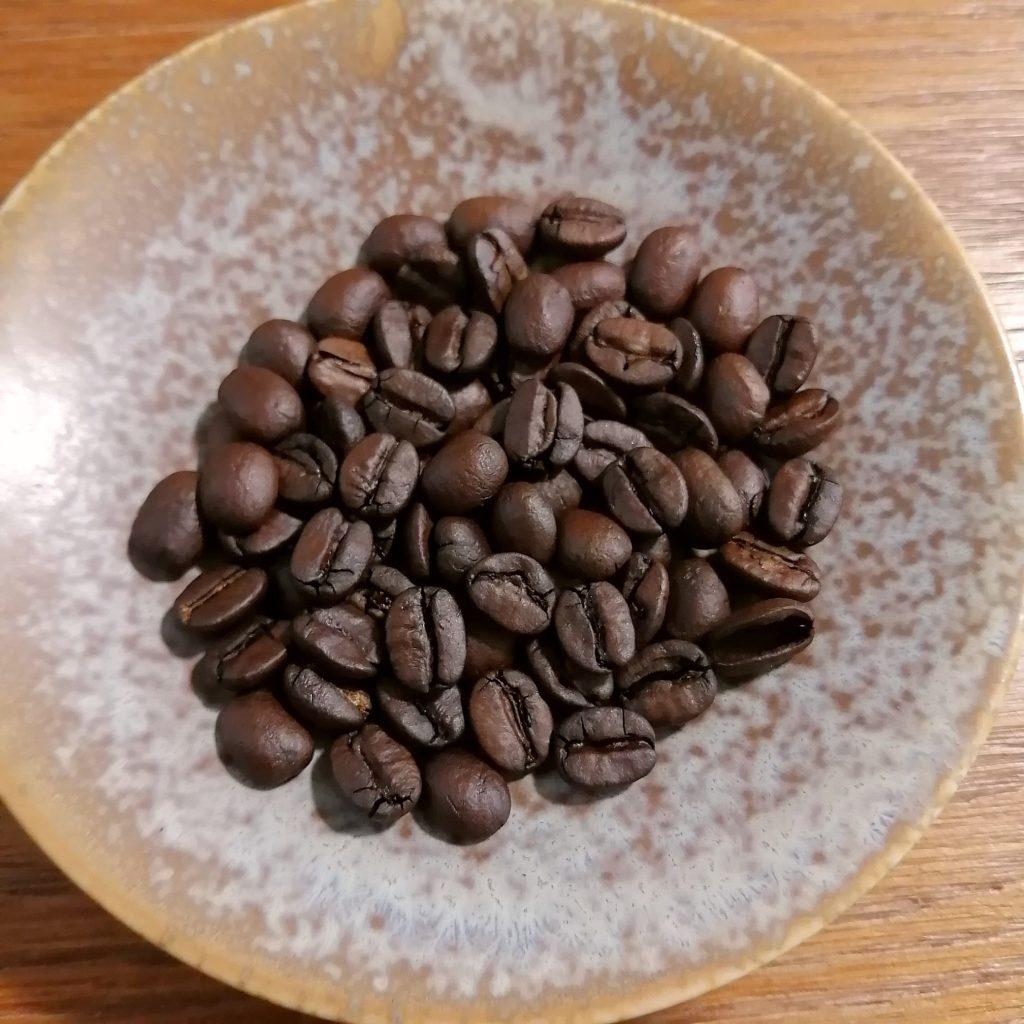 コーヒー焙煎「繁田珈琲焙煎倶楽部」焙煎豆・1回目