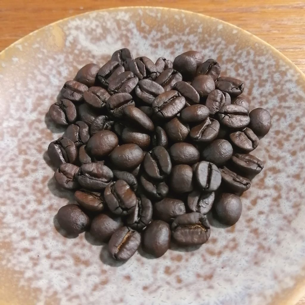 コーヒー焙煎「繁田珈琲焙煎倶楽部」焙煎豆・2回目