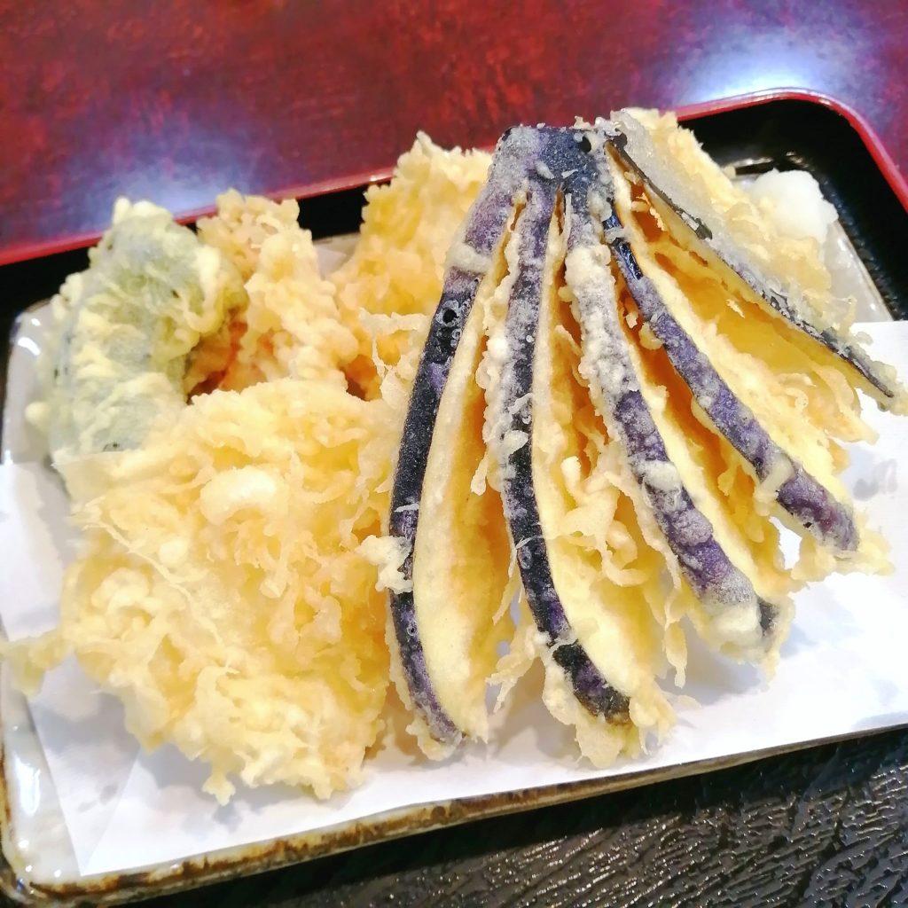 高円寺そば「信濃」野菜天ざるそば・野菜の天ぷら
