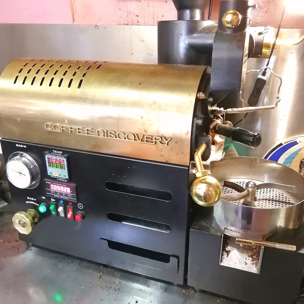 コーヒー焙煎「繁田珈琲焙煎倶楽部」ディスカバリー焙煎機