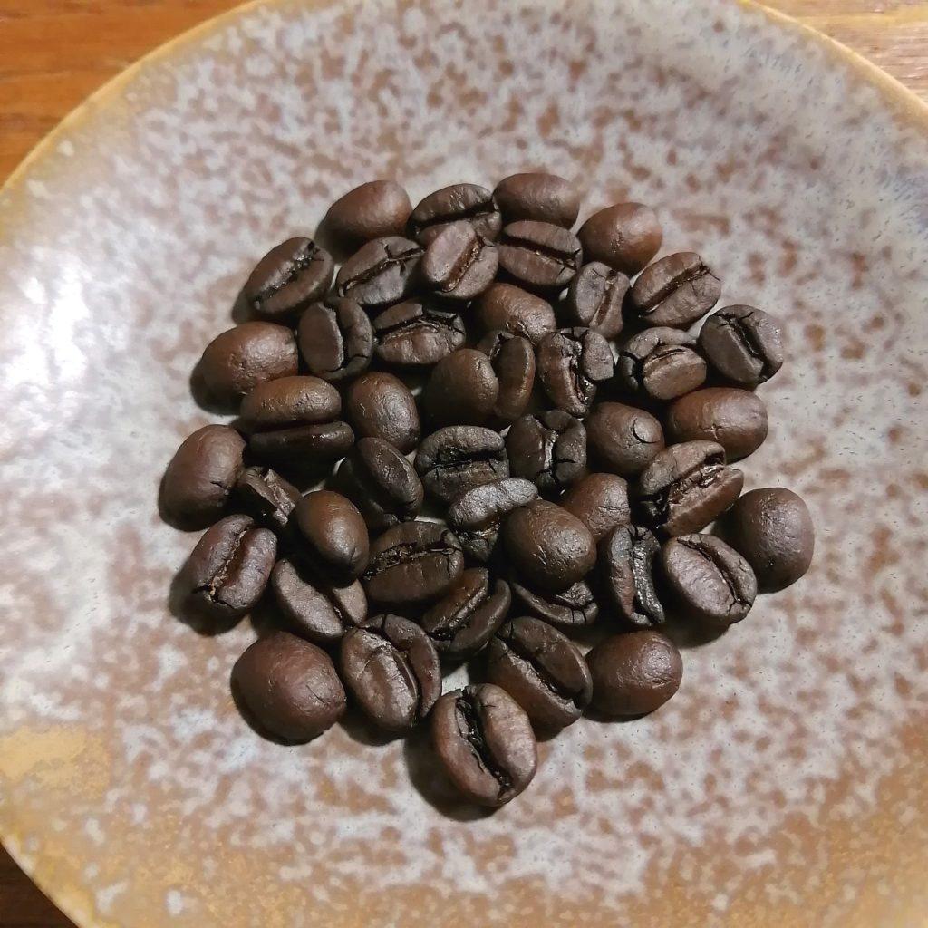 コーヒー焙煎「繁田珈琲焙煎倶楽部」ブラジル・ジアマンチーナヨシマツ2回目の焙煎豆