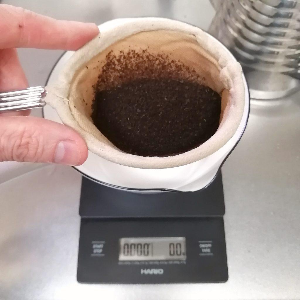 新高円寺コーヒー「珈琲店長月」ネルドリップ抽出