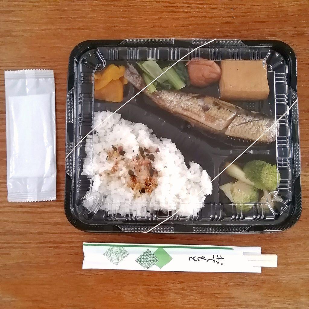 高円寺テイクアウト「まんまじぃま」大トロイワシの梅煮弁当セット