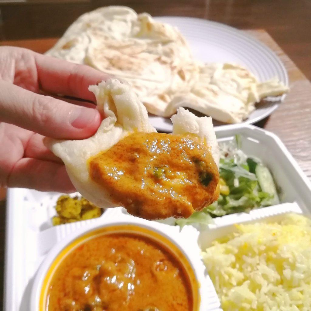 新高円寺テイクアウトカレー「サラムナマステ」カレーB弁当・ミックス野菜カレーをナンで