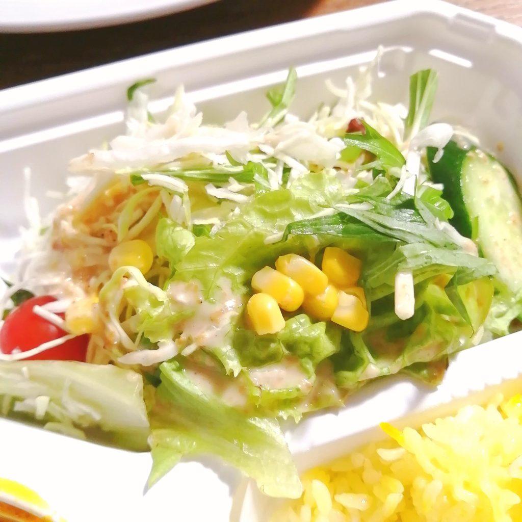新高円寺テイクアウトカレー「サラムナマステ」カレーB弁当・サラダ
