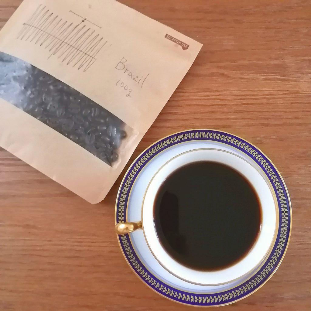 下北沢コーヒー「珈琲屋うず」コーヒー豆・ブラジル トミオフクダ D.O.T(樹上完熟豆) 深煎り ・実飲