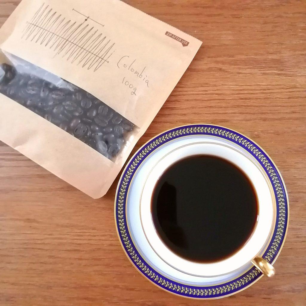 下北沢コーヒー「珈琲屋うず」コーヒー豆・コロンビア サンアグスティン 深煎り・実飲