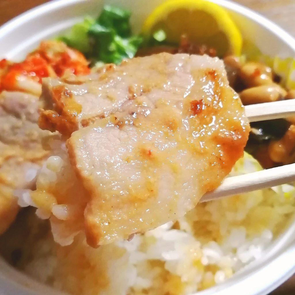 高円寺テイクアウト「ごはんや蝶」本日のおべんとう(国産豚バラみそ漬け焼き)・豚肉