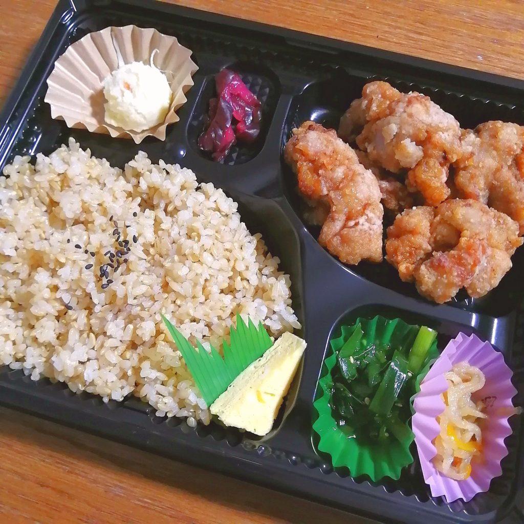 高円寺テイクアウト「IIDE」塩麴漬け国産鶏の唐揚げ弁当・アップ