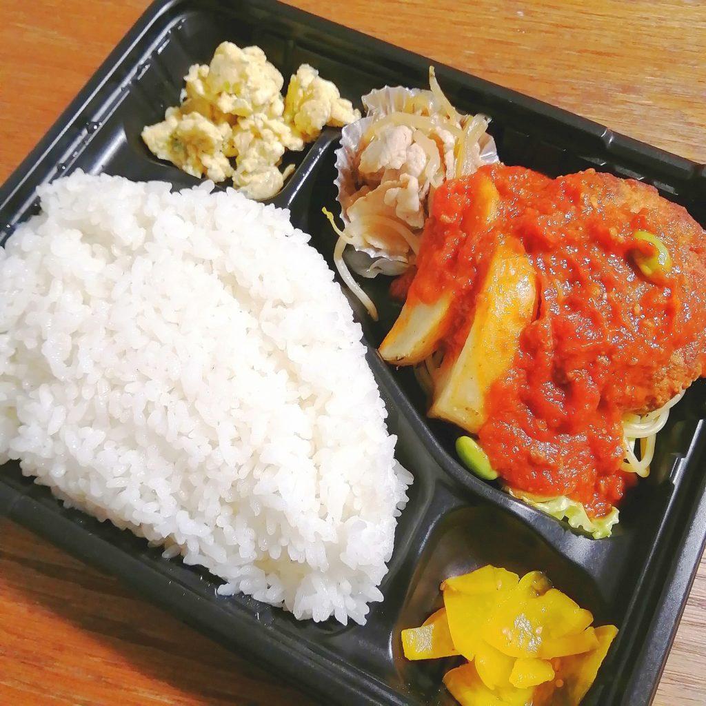 高円寺テイクアウト「煮込み酒場253」煮込みハンバーグ弁当・アップ