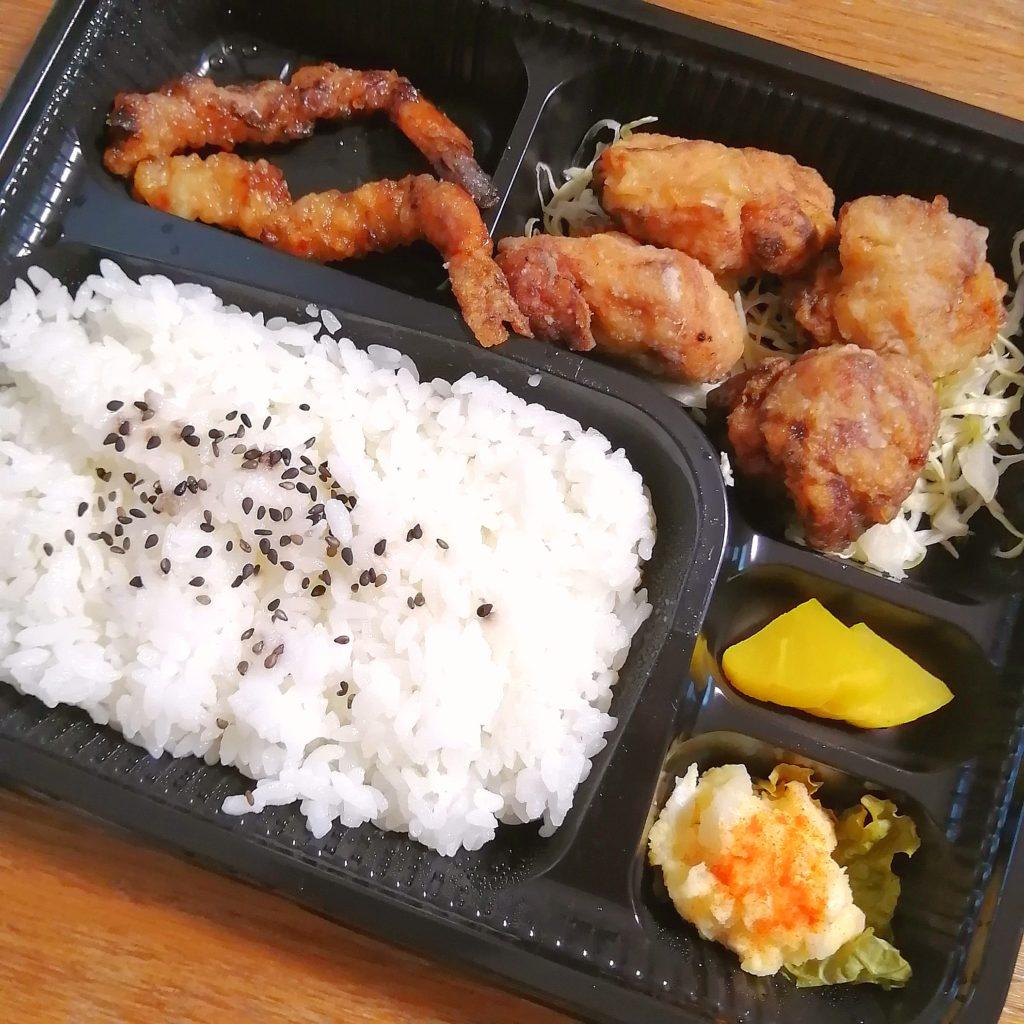 高円寺テイクアウト「ことぶきや」北海道のザンギ弁当・アップ