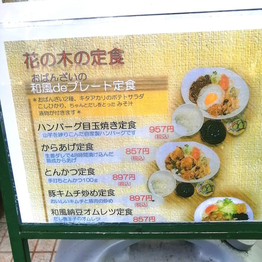 新高円寺駅前テイクアウト「花の木」店内・定食メニュー