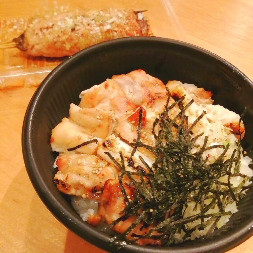 高円寺焼き鳥テイクアウト「音鶏家」焼き鳥丼と特製つくね・アップ