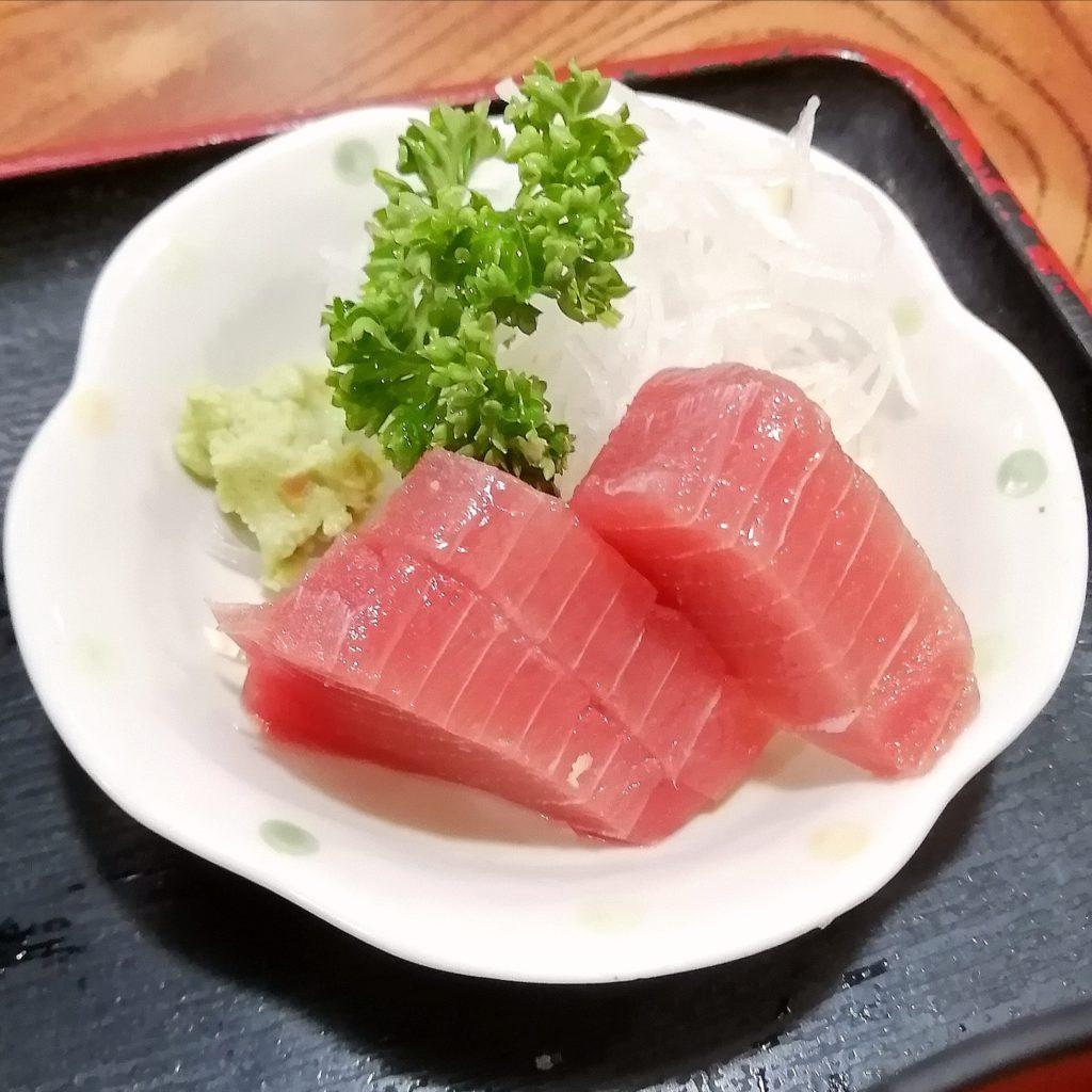 高円寺駅前定食「赤城屋」まぐろのお刺身