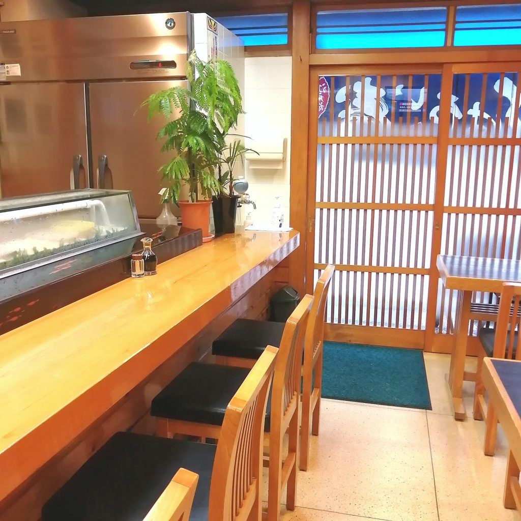 高円寺お寿司「いろは鮨」店内