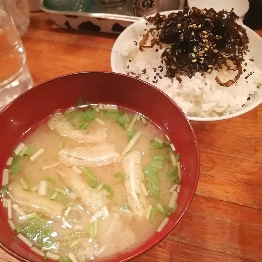 高円寺洋食「グルメハウス薔薇亭」ばらセット定食・ごはんとお味噌汁