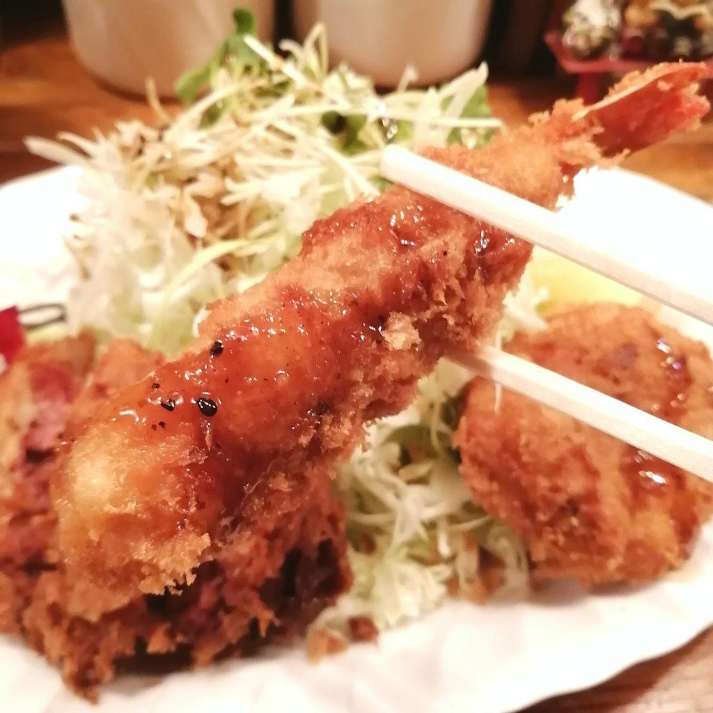 高円寺洋食「グルメハウス薔薇亭」ばらセット定食・エビフライ