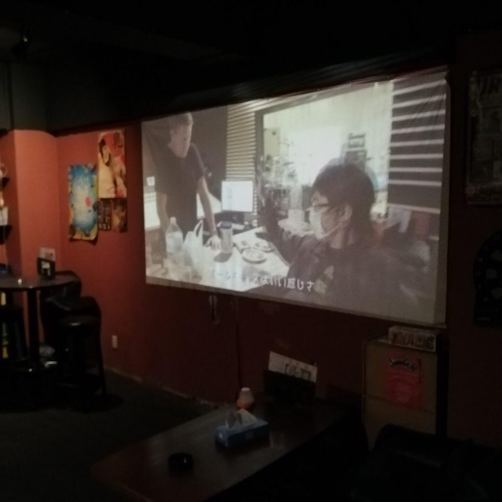 高円寺ミュージックバー「COMRADE」110インチスクリーン