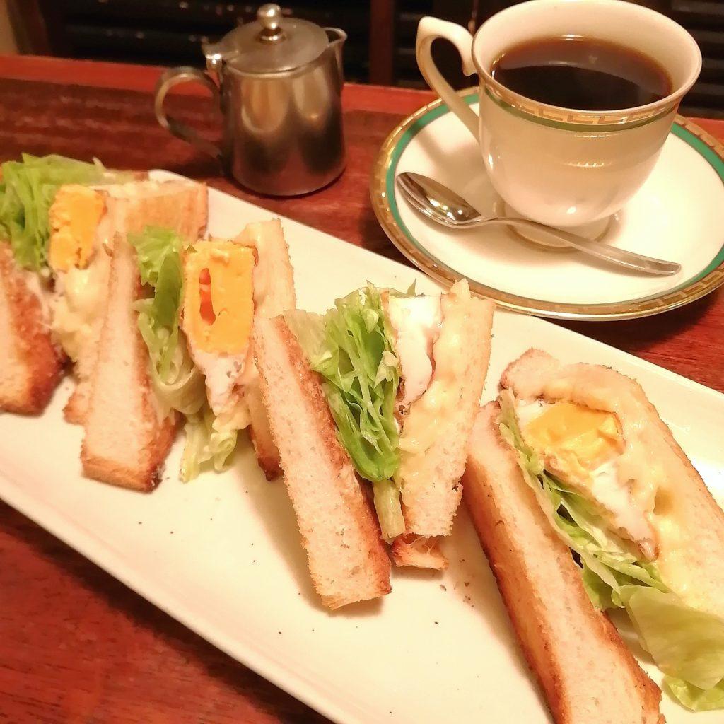 高円寺喫茶店「コーラル」玉子チーズトーストセット