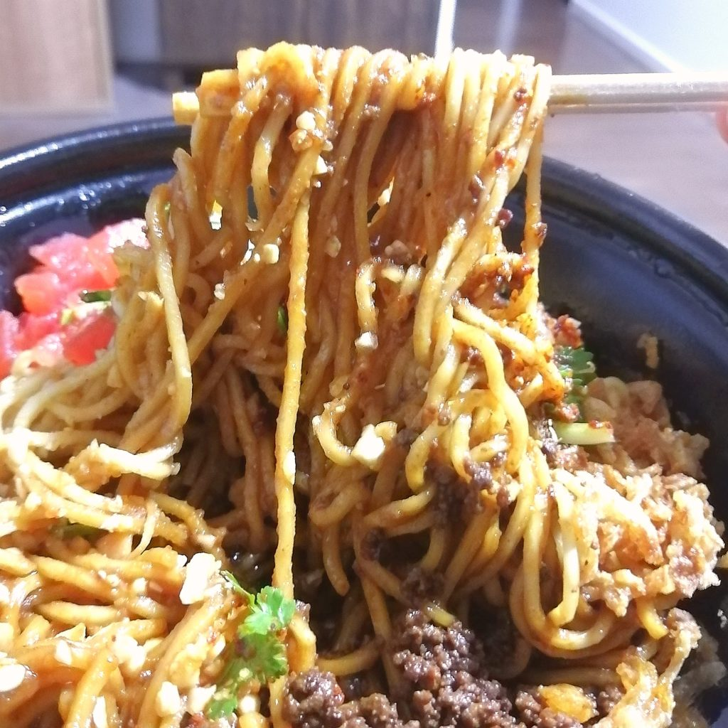 高円寺テイクアウト「四川麺LABO GOKU(ゴクウ)」宜賓燃麺(イーピンランメン)実食
