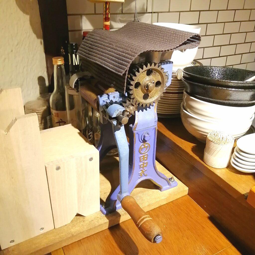 高円寺ラーメン「トリツカレ男」製麺機